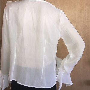 Le Caviar Tops - Gorgeous Sheer Ruffle Blouse